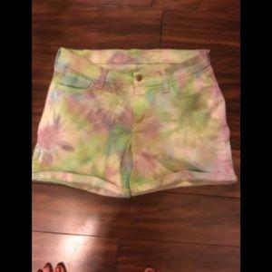 Tie dye old navy denim shorts